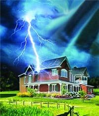Молниезащита зданий, молниеприемник г.Таштагол